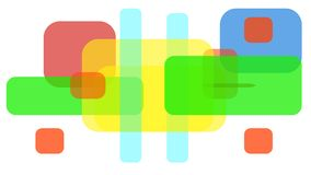 Colored squares and rectangles stock illustration