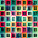 Colored squares seamless pattern Royalty Free Stock Photography