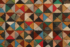 Colored squares. Colored tiles made ​​of leather, compound with each others royalty free stock images
