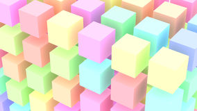 Colored stacked cubes Background Stock Photos