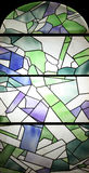Colored stained glass Stock Photo