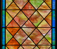 Colored stained glass panel Royalty Free Stock Image