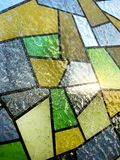 Stained glass on the window. stock image