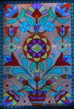Colored stained-glass window Royalty Free Stock Photos