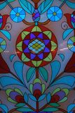 Colored stained-glass window Stock Images