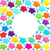 Colored stains of paint seamless pattern background Stock Photo
