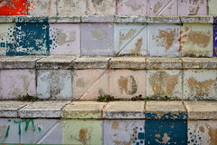 Colored stairs Stock Images