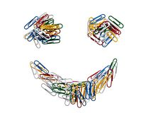 Colored staples smile, funny face Royalty Free Stock Photography