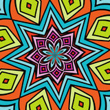Colored star. Abstract illustration with colored star Royalty Free Stock Image