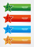 Banner star cubes Royalty Free Stock Photography