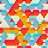 Colored star seamless pattern Royalty Free Stock Image