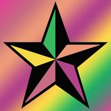 colored star on square background Stock Photo