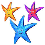 Colored starfish Royalty Free Stock Photos