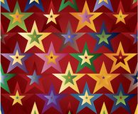 Colored stars royalty free illustration