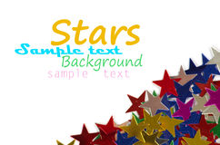 Colored stars background Stock Photography