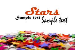 Colored stars background for your text. On photo, and other Royalty Free Stock Image