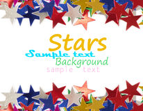 Colored stars background for your text Stock Photo