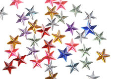 Colored stars confetti on white background Stock Photography