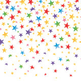 Colored stars with a gradient, transparent seamless background. Vector Royalty Free Stock Photo