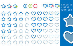 Colored stars and hearts Stock Images