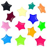 Colored stars models for gift cards Royalty Free Stock Images