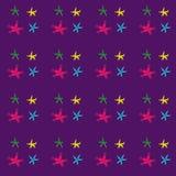 Colored stars shine in the sky. Stock Photo