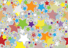 Colored Stars Texture Royalty Free Stock Photography