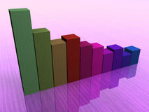 Colored statistics. Colored business statistics going down Stock Image