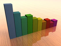 Colored statistics. Colored business statistics going down Stock Images