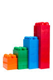 Colored statistics diagram from plastic blocks Stock Photography