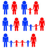 Colored stencils men, women and children Stock Images