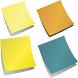 Colored stickers memo reminder. For home and office Royalty Free Stock Photos