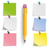 Colored Stickers Pencil Royalty Free Stock Images