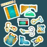 Colored stickers for rock climbing Royalty Free Stock Images
