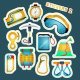 Colored stickers for rock climbing Stock Photo