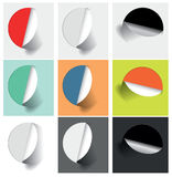 Colored stickers for various options Royalty Free Stock Images