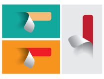 Colored stickers for various options Royalty Free Stock Image
