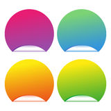 Colored stickers. Vector illustration of colored stickers Stock Image