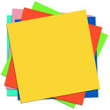 Colored sticky notes. On white background Royalty Free Stock Image