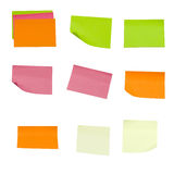 Colored sticky notes Stock Photos
