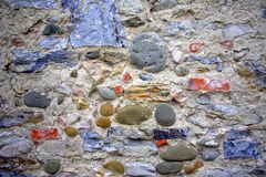 Colored stone wall Stock Image