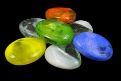 Colored stones. Stones of different colors Royalty Free Stock Photography