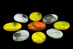 Colored stones. Stones of different colors Royalty Free Stock Photos