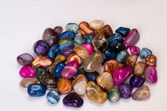 Colored stones agates Royalty Free Stock Photo