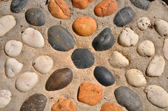 Colored stones background Stock Photography