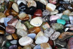 Colored stones background. Colored stones and minerals background Royalty Free Stock Photo