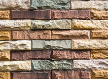 Colored stones. The colorful square stones  made of walls Stock Images