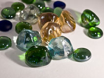 Colored stones. Glass, light box Stock Image