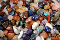 Colored stones Stock Images