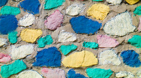Colored stones texture closeup Royalty Free Stock Photo
